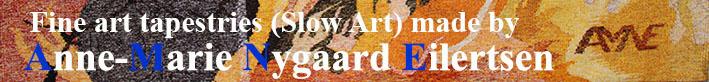 Fine art tapestryes made by Anne-Marie Nygaard Eilertsen Logo